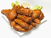 Chicken Wings with Celery and Honey Ranch Dip