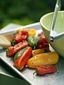 Roasted Peppers in Oil, Salt and Pepper