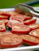 Marinated Roma Tomatoes Ready for the Grill