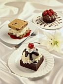 Three Assorted Desserts, Single Servings