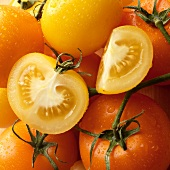 Yellow and Orange Tomatoes, Whole, Halved and Wedge