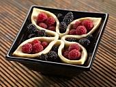 Blackberry and Raspberry Tart