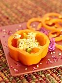 An Orange Pepper Slice