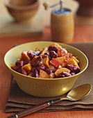 Bowl of Kidney Bean, Carrot and Red Bell Pepper Salad