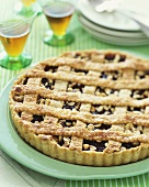 Whole Blueberry Tart with Lattice Top