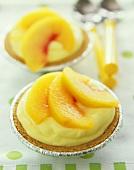Individual Peach Tarts, Close Up