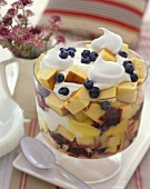 Large Blueberry Trifle in a Trifle Dish