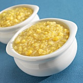Two Bowls of Creamed Corn