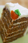 Slice of Carrot Cake; Close Up