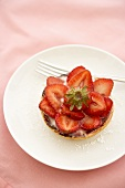 Strawberry Fruit Tart; From Above