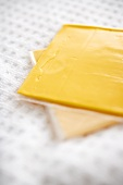 Yellow American Cheese Slices; In Plastic