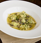 Ravioli in an Anchovy Butter Sauce