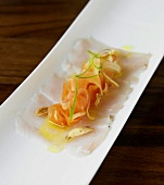 Sliced Hamachi with Crisped Garlic