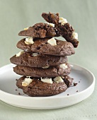 Stack of Chocolate White Chunk Cookies