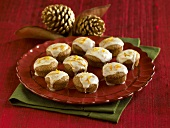 Citrus Glazed Mini Muffins on a Plate