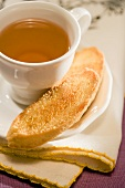 Cup of Tea with Biscotti