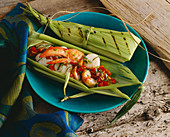 Lobster and Scallops Grilled in Corn Husks