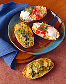 Two Assorted Twice Baked Potatoes From Above