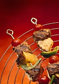 Grilled Beef, Pineapple and Vegetable Kabobs