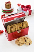 Assorted Tins of Cookies for Christmas Gifts
