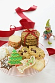 Plate of Assorted Christmas Cookies, Christmas Decorations