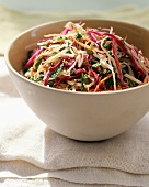 Bowl of Asian Slaw with Sesame Seeds