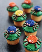 Festive Spider Cupcakes for Halloween