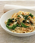 Bowl of Pasta with Broccoli Rabe and Onions