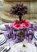 Lavender Table Set Outdoors (France)