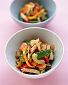 Healthy Tofu Stir Fry in Two Bowls