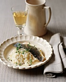 Pan Fried Fish with Lemon Risotto