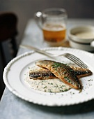 Fried Trout with Herbed Cream Sauce