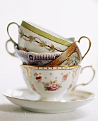 Ornate Tea Cups Stacked