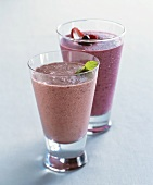 Berry Smoothies in Two Glasses