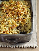 Macaroni Casserole in Baking Dish