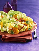 Salad with Mandarin Oranges and Red Bell Pepper