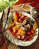 A Platter of Grilled Vegetables