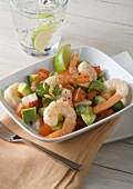 Shrimp Salad with Avocado and Bell Pepper