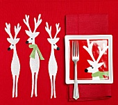 Red Reindeer Place Setting