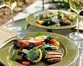 Grilled Veal Cutlets with Arugula Salad
