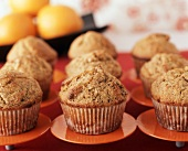 Orange Muffins on Small Orange Plates