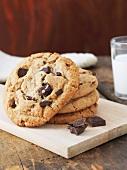 Chocolate Chunk Cookies on Board