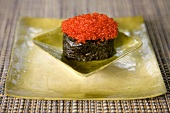 Maki sushi with red caviar