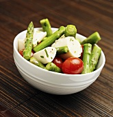 Hearts of Palm Salad with Asparagus and Tomato