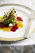 Frisee Salad with Red and Golden Beets