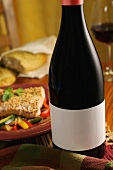 Bottle of Pinot Noir, Basil Salmon with Julienne Vegetables
