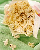 Microwavable Bag of Kettle Corn Popcorn, Opened
