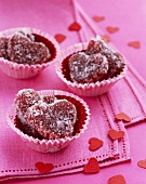 Heart Candies in Cupcake Liners