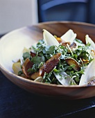 Watercress and Apple Salad with Endive and Bacon