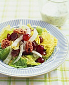 Salad with Fennel and Red Grapes, Dressing on Side